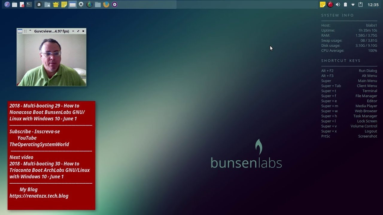 2018 - Multi-booting 29 - How to Nonacosa Boot BunsenLabs GNU/Linux with  Windows 10 - June 1