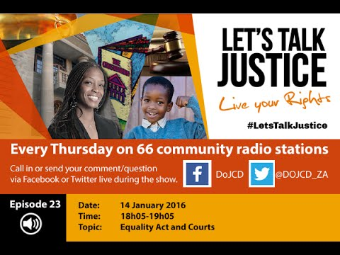 Let's Talk Justice Episode 23, 14 Jan 2016