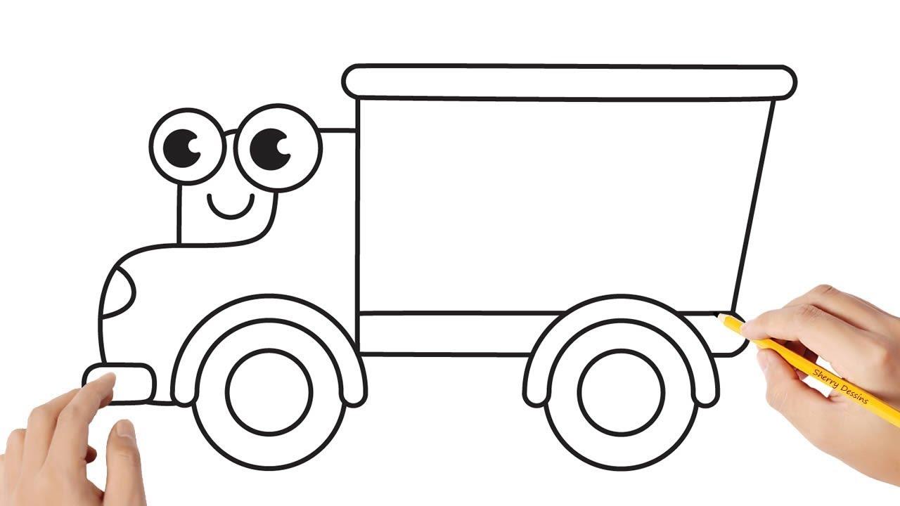 Comment dessiner un camion - YouTube