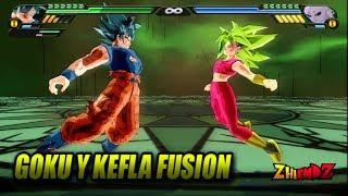 Goku Ultra Instinto y Kefla Fusion | Gofla SSJ2 VS Jiren | DBZ Budokai Tenkaichi 3