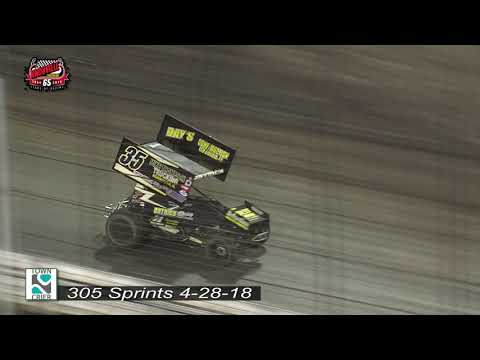 Knoxville Raceway 305 Highlights - April 28, 2018