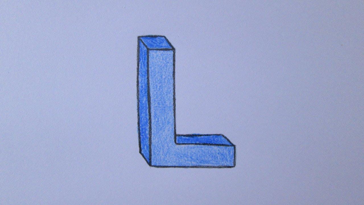 Cómo Dibujar La Letra L Youtube