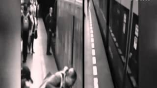 Üzerinden metro geçti burnu bile kanamadı!