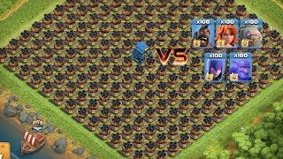 COC All Troops! Who Can Survive This Difficult Trap On COC? Trap VS Troops #coco2 Chip GamePlays