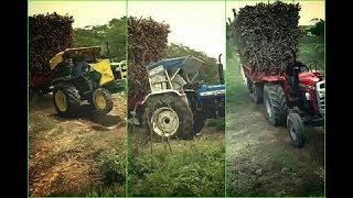 John Deere 5310 vs New Holland 3630 vs Massey Ferguson 9500|Same load Tractor Power Check