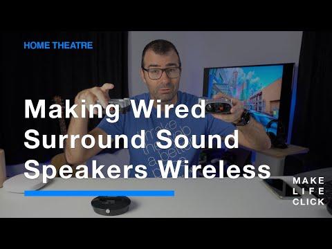 Making Wired Surround Sound Speakers Wireless