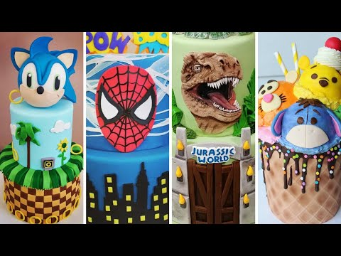 AMAZING Kids Cakes Compilation! Sonic The Hedgehog, Spiderman, Jurassic Park, Winnie The Pooh