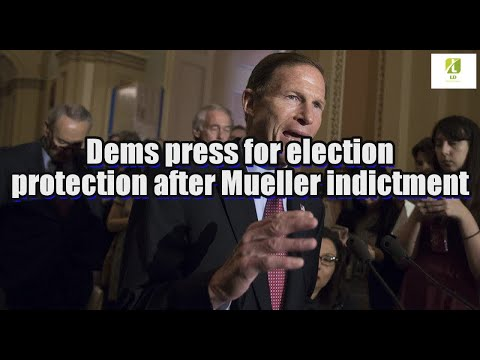 Dems press for election protection after Mueller indictment