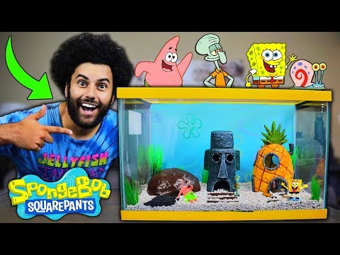 Building A REPLICA BIKINI BOTTOM SPONGEBOB SQUAREPANTS AQUARIUM! Conch Street. *FOR MY NEW PET FISH*