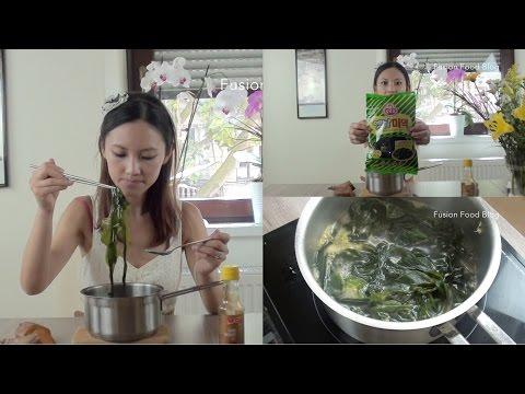 Korean seaweed soup Miyeokguk Mukbang   100 subs September holiday & video notes 韩国海带汤
