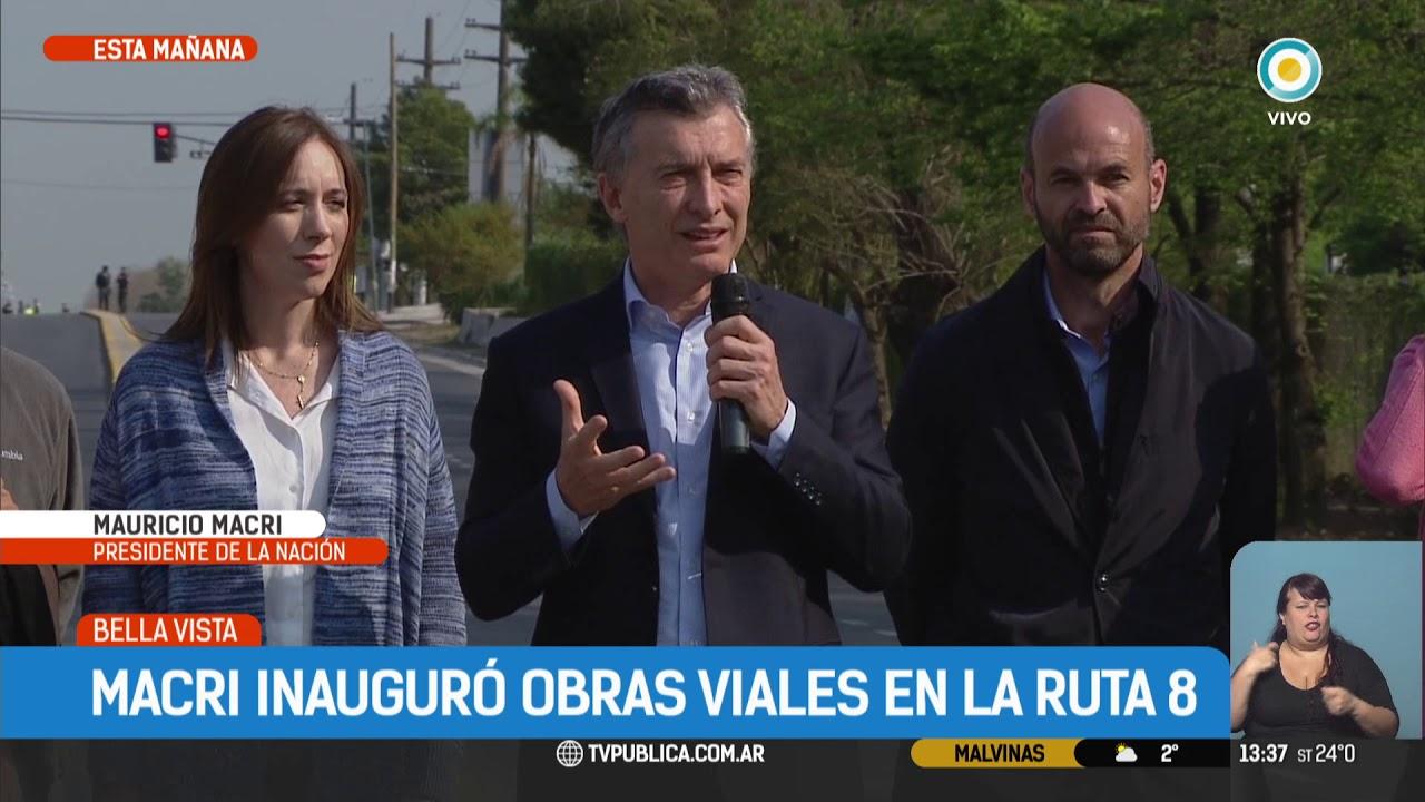 Resultado de imagen para Macri inauguró un tramo de ruta 8