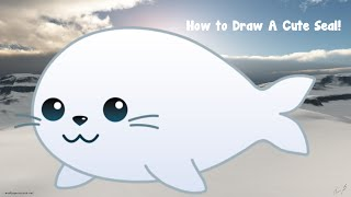 How to draw a cute seal