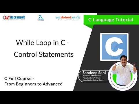 While Loop statements in C Language - C Programming Tutorial