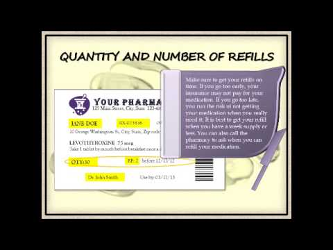 how to read your prescription label