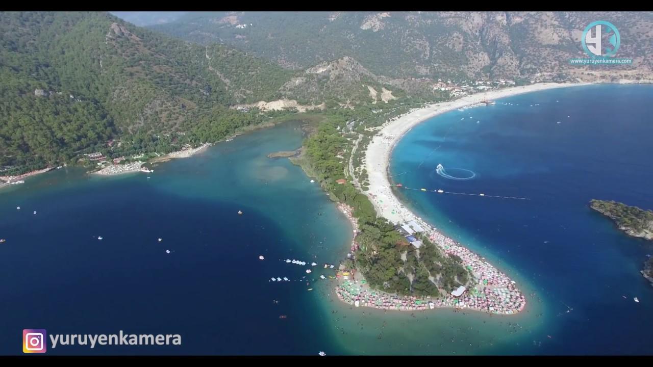 Ölüdeniz Fethiye Muğla Drone Hava çekimi / Blue Lagoon Oludeniz Turkey ( Yürü...