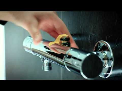 montage duschsystem grohe rainshower 310 power soul youtube. Black Bedroom Furniture Sets. Home Design Ideas