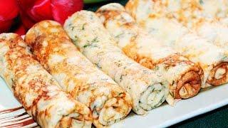 СЫРНЫЕ БЛИНЫ  с Зеленью ♥ Рецепты NK cooking