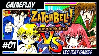"Zatch Bell! Mamodo Battles GamePlay #1 ""A dança da morte do Folgore"" [PS2/GCUBE]【Full HD 60 FPS】"