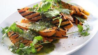 Char-grilled Sweet Potato Recipe W/ Coriander Vinaigrette