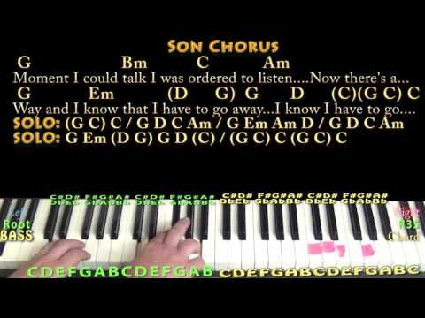 Father and Son (Cat Stevens) Piano Cover Lesson with Chords/Lyrics