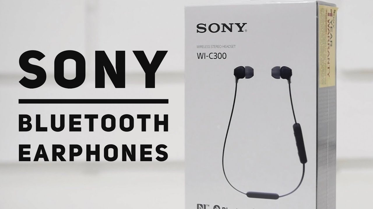 Sony Wi C300 Bluetooth Earphones Review Youtube