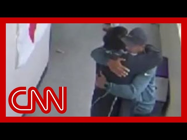 Watch emotional moment after coach disarms student