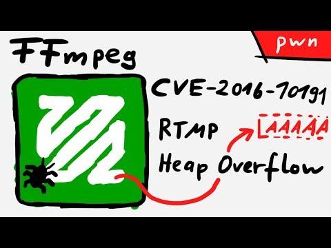RTMP Heap Overflow CVE-2016-10191 - Exploiting FFmpeg ft. Paul Cher
