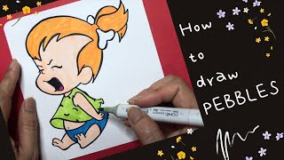 How To Draw Peḃbles Flintstone | art for kids