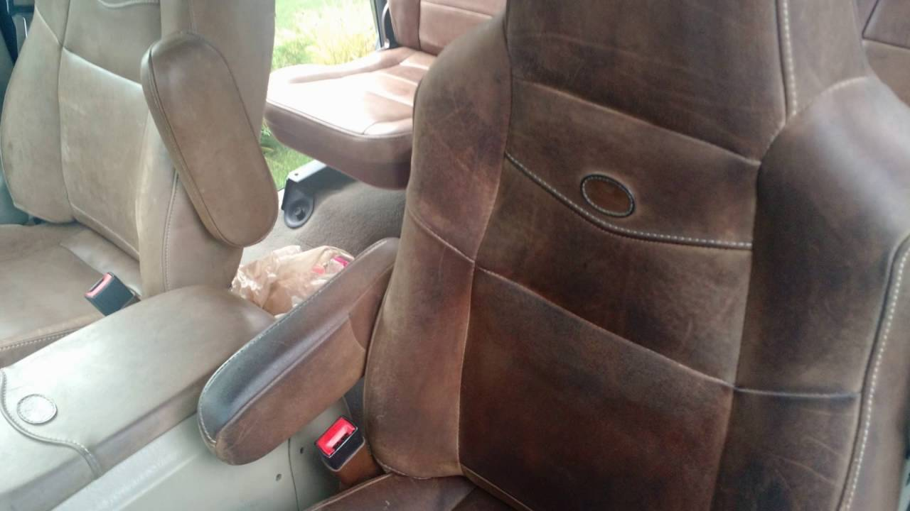 Ford F150 King Ranch >> King Ranch Leather Reconditioning - YouTube