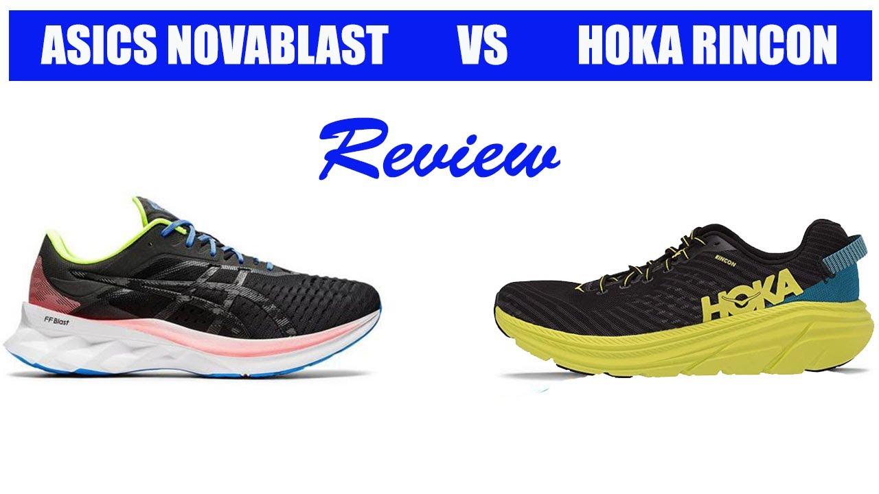 Asics Novablast vs Hoka One One Rincon