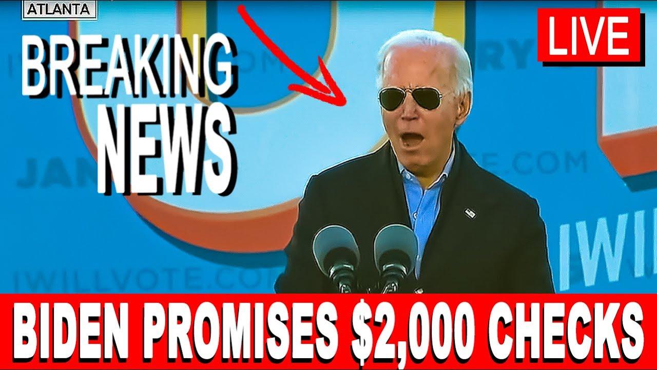 Stimulus Check Update: Biden Promises $2,000 Stimulus Checks - YouTube