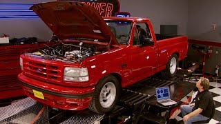 Chassis Dyno Shootout: Chevy 454 SS vs Ford Lightning MuscleTrux Wars Part 6 - Trucks! S10, E15