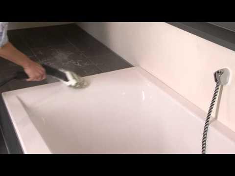 Очистка ванной комнаты с помощью пароочистителя Керхер