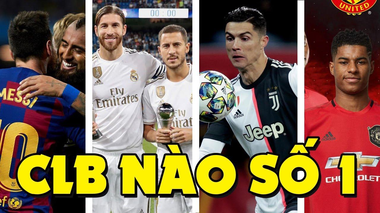 Top 10 câu lạc bộ được yêu thích nhất trên thế giới, Barcelona hay Real Madrid đứng đầu ?
