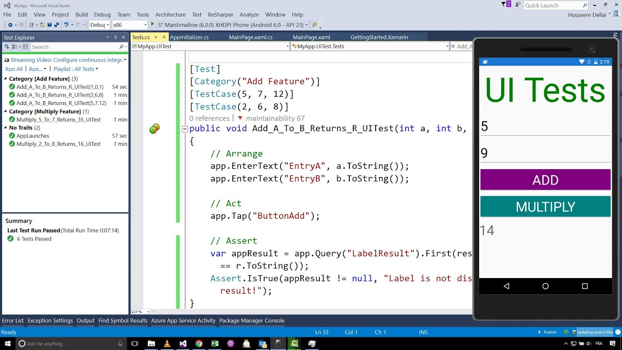 Creating UI Tests for Xamarin Forms