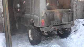 УАЗ работа блокировок БТР-60 в военных мостах