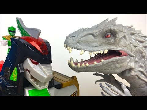 POWER RANGERS IMAGINEXT DRAGONZORD R/C FIGHTS AGAINST JURASSIC WORLD INDOMINUS REX - STORY