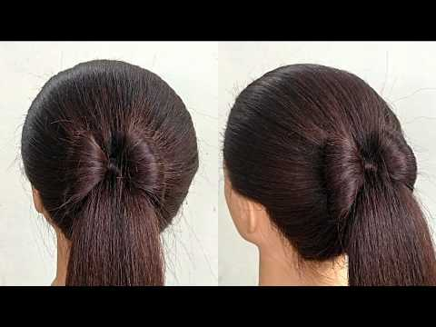 Ponytail Hairstyle || cute easy hairstyles for girls || Raksha Bandhan Hairstyle thumbnail