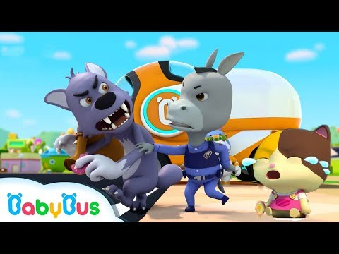 Super Policeman Catches Bad Wolf | Police Cartoon, Police Car | Nursery Rhymes | Baby Songs |BabyBus