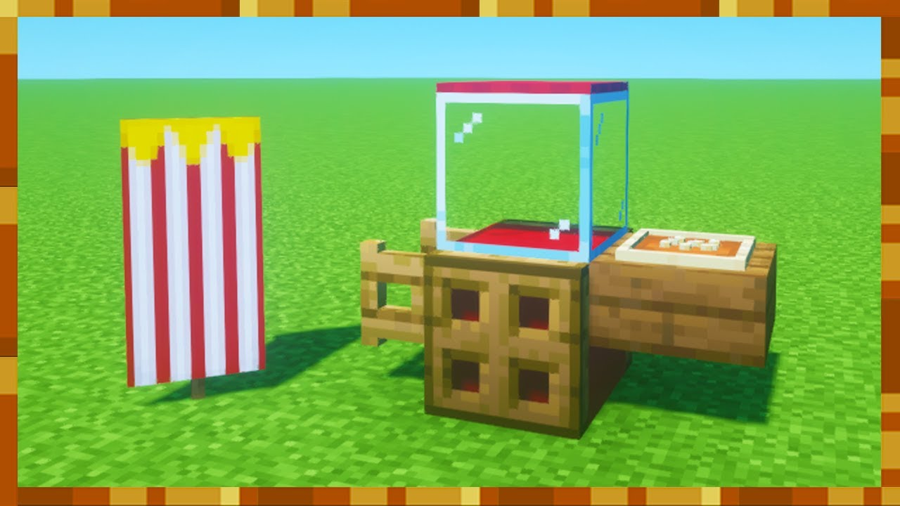 """Minecraft Tutorial: How To Make A Popcorn Stand """"Quick Builds"""""""