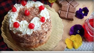 Black Forest Cake Bangladeshi Decoration Cake Recipe