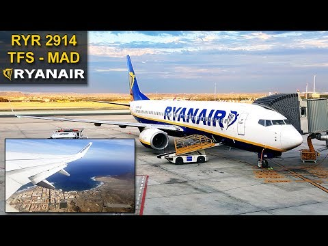 TRIP REPORT | Tenerife South - Madrid | STUNNING LIGHT! | RYANAIR Boeing 737
