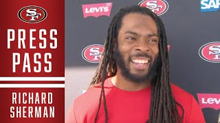 Richard Sherman Shares Update on Knee Injury   49ers
