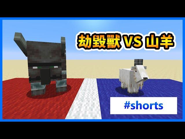 【Minecraft】山羊對撞劫毀獸💥誰會贏? #shorts