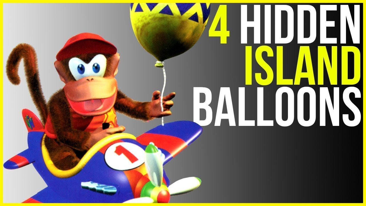Diddy Kong Racing - Location of the 4 Hidden Island ...