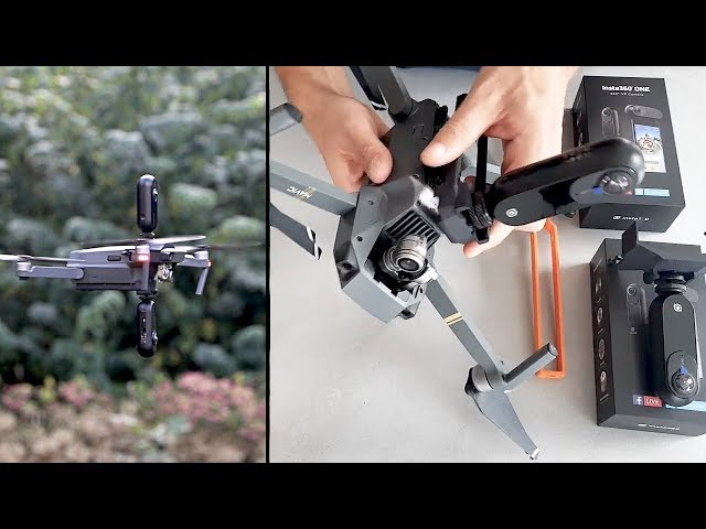 How to mount & launch 1 or 2 Insta360 ONE cameras to DJi Mavic Pro