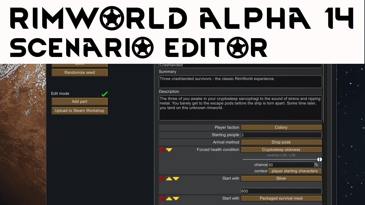Rimworld alpha 14 scenario editor tutorial how to use scenario rimworld alpha 14 scenario editor tutorial how to use scenario editor rimworld gumiabroncs Gallery