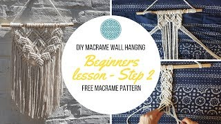 DIY Macrame Wall Hanging tutorial - Free Macrame Pattern Explained- DIY Craft