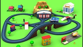 Train Cartoon for children Sergeant Cooper the Police Car - Train for kids - Toy Factory kereta api