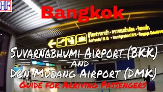 Bangkok | Airport Arrival - Suvarnabhumi (BKK) & Don Mueang (DMK) and Transportation to City | Info
